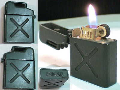 Briquet Ancien @ JERRICAN @ Vintage gas Lighter Feuerzeug Accendino