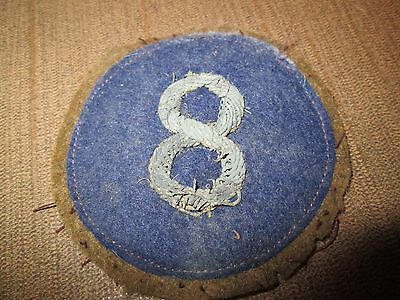 WWI US Army VIII Eighth Corps patch