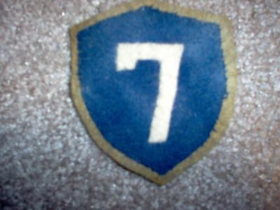 WWI US Army VIIth Seventh Corps patch