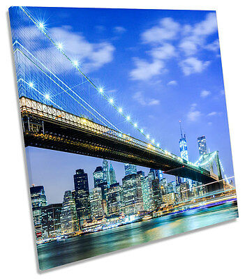 New York City Brooklyn Bridge Canvas Wall Art Picture Square Print