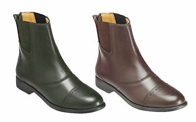 Ladies 7 ** Harry Hall Princetown ** Brown Leather Jodhpur Boots Horse Riding