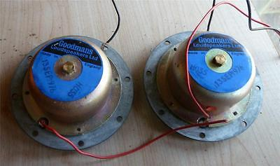 Very Rare Vintage Goodmans  Blue Label 8ohm tweeters. 1976.
