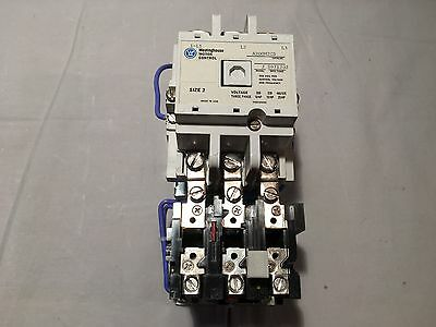 Westinghouse A200M2CS Size 2  DC  Magnetic Starter  125 VDC Coil 1268C86G02  NEW
