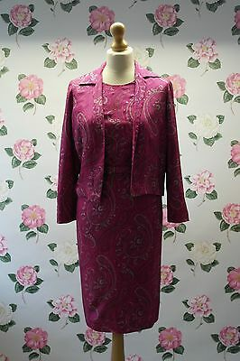 Vintage 1950's handmade pink paisley two piece silk suit