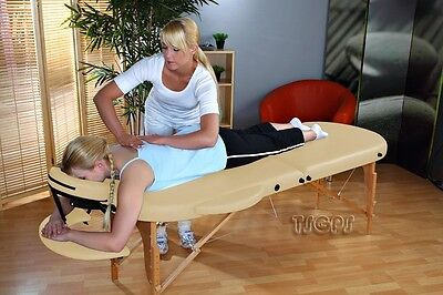 Reiki Massageliege Kingpower, 2 Zonen, Oval-Rund, gelb