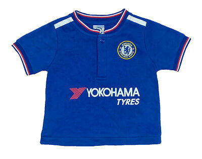BOYS 6 9 Months CHELSEA FC Home T Shirt Football Baby Clothing Top Blue