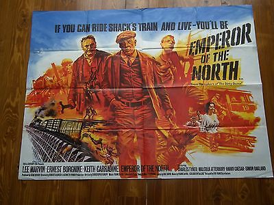 1970s ORIGINAL UK QUAD FILM POSTER EMPEROR OF THE NORTH LEE MARVIN