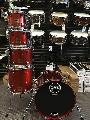 GMS Custom Drums Tangerine Sparkles Lacquer Finish