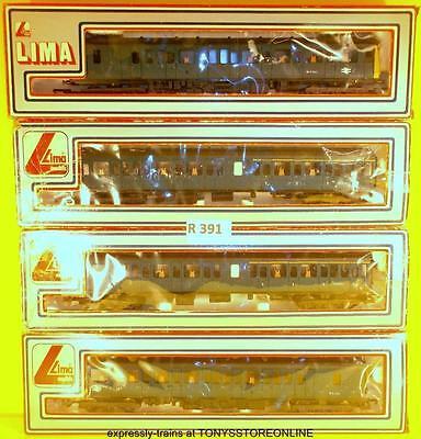 r391 lima oo cl117/2 br blue 4-car made -up dmu pack nr xclnt boxed/sleeved