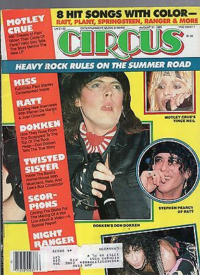 August 31 1985 Circus Magazine-Don Dokken Cover-Paul Stanley Of Kiss Poster