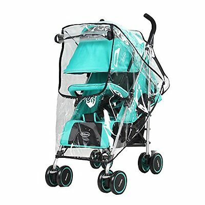 Obecome Universal Baby Stroller Rain Cover Waterproof Umbrella Stroller Wind for