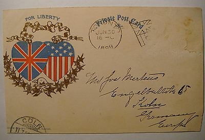 For Liberty.Overlapping hearts.1899.Semple & Luke,Toronto.Lachine Rapids.AS IS