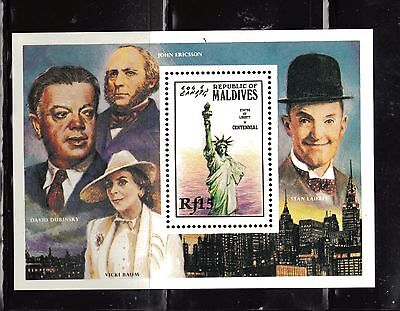 4 Mint Nh Stamps & Ss Statue Of Liberty - Lesotho 1986