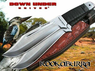 Down Under Knives Kookaburra 2 Knife Throwing Set with Leather Sheath