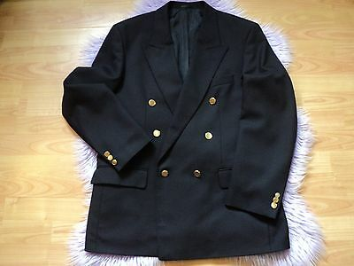 "Men's M & S Navy Double Breasted Dinner Jacket / Blazer size 40"" R"