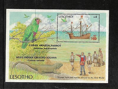 Mint Nh Ss Discovery Of America - Lesotho 1987