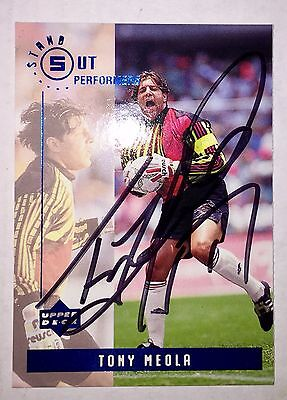 Tony Meola Autographed 94 World Cup Team USA Soccer Metrostars Wizards Redbulls