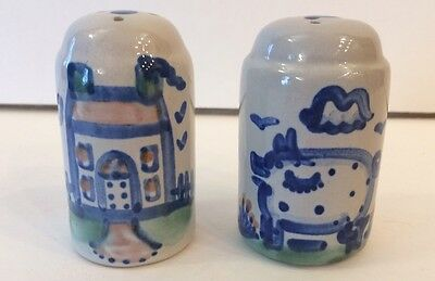 M.A. Hadley Pottery Vintage Salt and Pepper Shakers House and Pig Design GIFT!