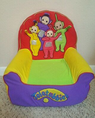 Vintage Extremely *RARE* TELETUBBIES Teletubby Foam Chair w/ Cover Seat