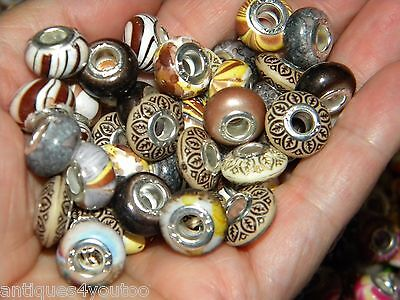 NEW Brown's 30/pcs  per lot Charm 925 Silver European Assorted BEADS