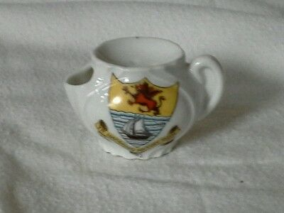 Crested china, shaving mug shape, Rhyl, unmarked, in good condition