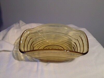 Vintage Glass Fruit Bowl, c.1950s, in good condition