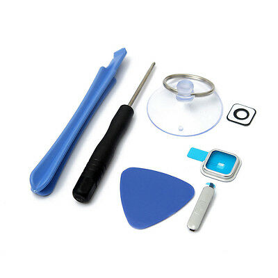 Camera Glass Lens Cover+Charger Port Cover+Tool For Samsung Galaxy I9600 G900 S5