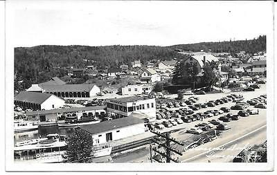 1952 RPPC - View of The Temagami Docks - Temagami, Ontario