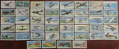 """44 of 50 Player's """"Aircraft of the RAF"""" Cigarette Cards 1938"""