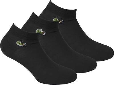 Lacoste Ankle Socks 3 Pairs - Black