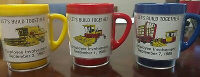 Set of 3 Vintage Ford New Holland Employee Only Coffee Cups 1987, 1988, 1989