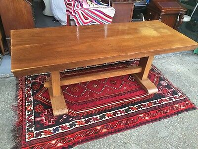 Stunning 1930s Refectory Dining Table Solid Oak Plank Top Eight to Ten Seating