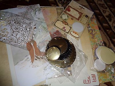 Assorted Topper And Background Sheets Card Making Clear Out Oriental *free P&p*