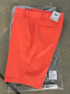 Puma Womens Golf Shorts-New With Tags- Hot Coral- Size 10