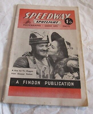 1948-49 Speedway Spotlight Vintage British Motorcycle Racing Photo Booklet RARE