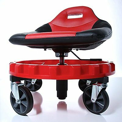 Mechanic Creeper Seat Rolling Work Stool Tools Tray Chair Auto Shop