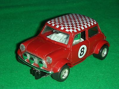 1:32 SCALEXTRIC RALLY MINI COOPER C.7 No8 IN RED NICE CLEAN USED CONDITION
