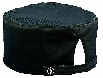 Chef Works Cool Vent Chef  Beanie (DFBB) Black New, Free Shipping