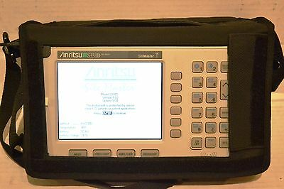 Anritsu Site Master S331D Cable/Antenna Analyzer w/ Opt 3/31 Color Screen GPS