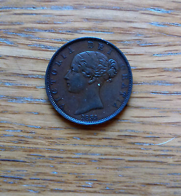 Victorian **young Head** Copper  Half-Penny Coin Dated 1853