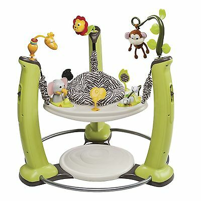 Exer Saucer Jump And Learn Jungle Quest Stationary Jumper Baby Bouncer