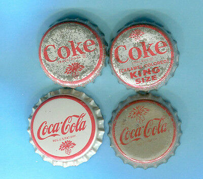 4-LOT of COCA COLA SODA BOTTLE CAPS with S.C. TAX STAMP & PALMETTO TREE