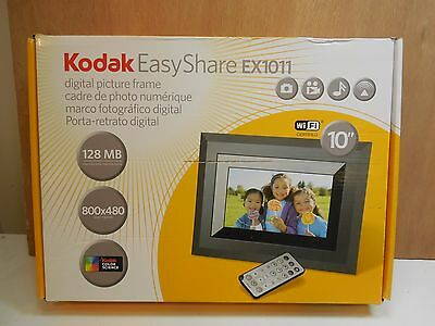 """Kodak Easyshare EX1011 Picture Frame WiFi 10"""" w/ Box- Tested- Works"""