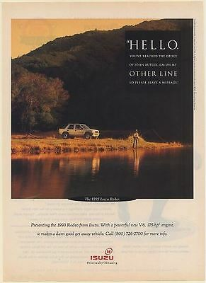 1993 Isuzu Rodeo John Butler on Other Line Fishing Print Ad