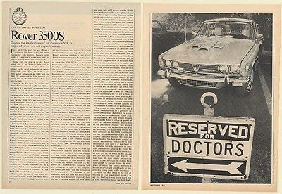 1969 Rover 3500S Road Test 4-Page Article