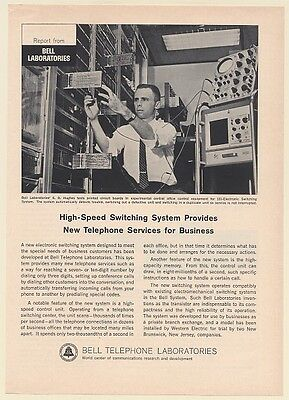 1964 Bell Telephone Labs E G Hughes 101 Electronic Switching System Print Ad