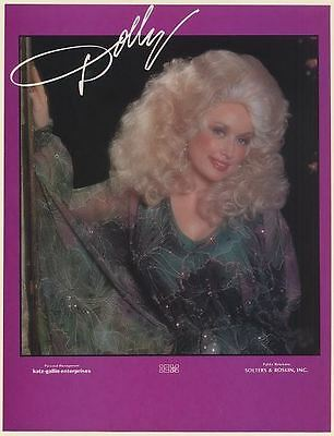 1979 Dolly Parton Photo Management Booking Trade Print Ad