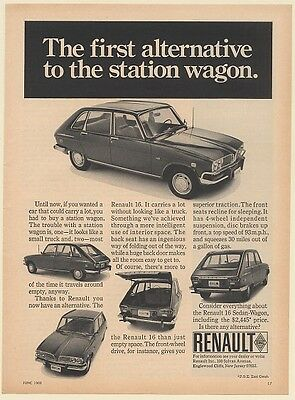 1969 Renault 16 The First Alternative to the Station Wagon Print Ad