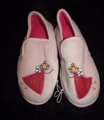 Fairy Angel hard sole bedroom slippers 2-3 new girl's soft pink sleep wear gifts
