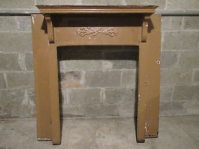 Small Antique Oak Fireplace Mantel ~ 48 X 48 ~ Architectural Salvage